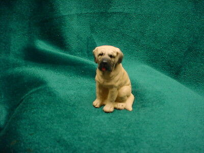 MASTIFF puppy TiNY DOG Figurine HAND PAINTED MINIATURE Collectible Mini Statue