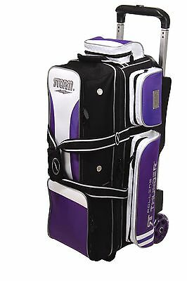 Storm Rolling Thunder 3 Ball Triple Roller Bowling Bag Black/Purple
