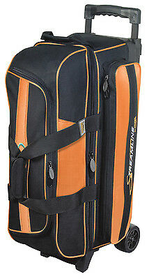 Storm Streamline 3 Ball Triple Roller Bowling Bag Black Orange