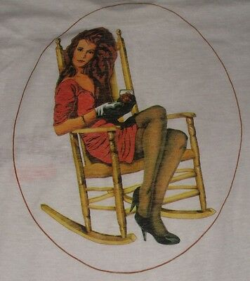 vintage OLD GRAND DAD ROCKS T-SHIRT ADULT S small WHITE S/S whiskey SUPER THIN