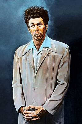 "SEINFELD Kramer `THE KRAMER ' painting blue CANVAS ART PRINT Poster  16""X 12"""