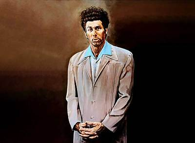 "SEINFELD Kramer `THE KRAMER ' painting LS CANVAS ART PRINT Poster 8"" X 12"""