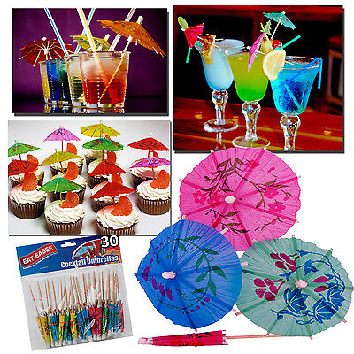 30 Tropical Cocktail Drinks Party Umbrellas Cakes Cupcakes Desserts Accessories