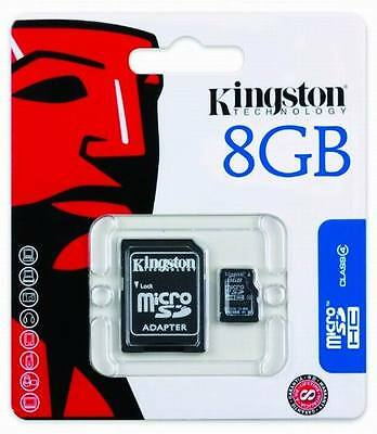 Kingston 8GB Micro SD TF Karte Speicherkarte PHONE TABLET KAMERA Console 8 Gig