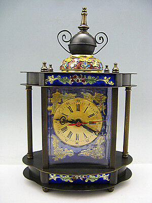 China Cloisonne Copper machinery mechanical Device timepiece clock