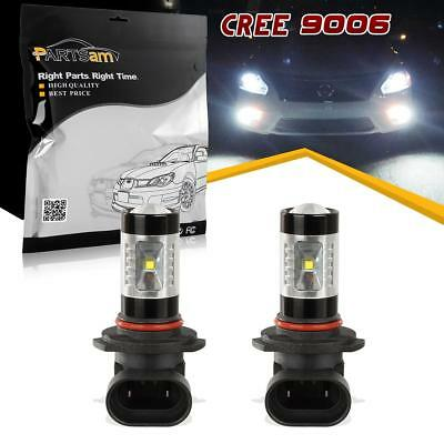 2x Fog Driving Light LED Bulbs 9006 HB4 Cree 30W 6000K White For Mercedes-Benz