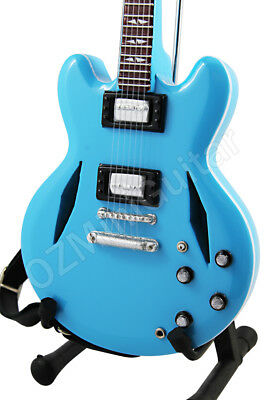 Miniature Guitar Dave Grohl Inspired By DG-335 & Strap