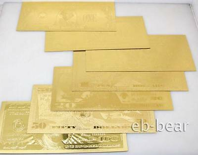 Lots 70 Pcs 10 Sets U.S. dollar Gold Banknote Notes  Unusual Beautifully Crafts