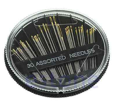 30PCS Assorted Hand Sewing Needles Embroidery Mending Craft Quilt Sew Case one