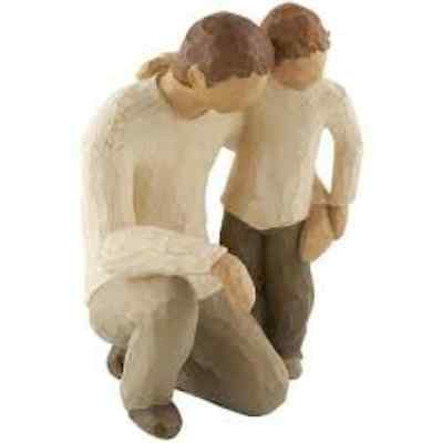 Genuine Willow Tree Figurine Father And Son 26030