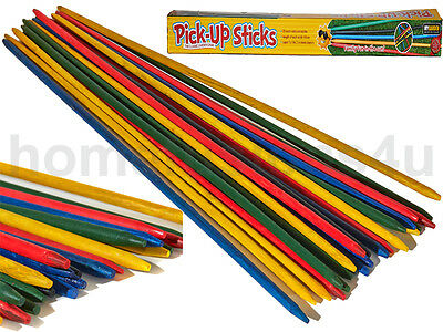 New Giant Garden 25 Pick Up Sticks Wooden Outdoor Traditional Family Game Fun