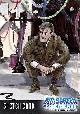 Dr Doctor Who Big Screen Additions Sketch Card by Scott Houseman