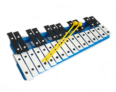 ProKussion 27 Key Chromatic Glockenspiel Xylophone in Blue and 2 Free Beaters