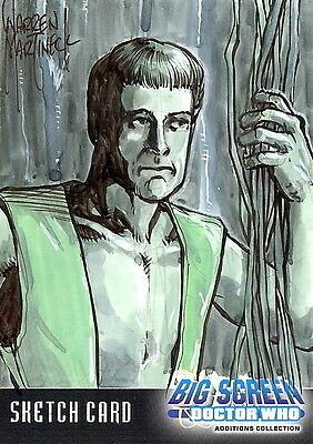 Dr Doctor Who Big Screen Additions Sketch Card by Warren Martineck /2