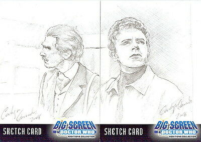 Dr Doctor Who Big Screen Additions Sketch Cards by Calolyn Edwards - Dual Sketch
