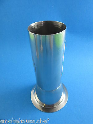 """Premium #22 x 2"""" STAINLESS STEEL Meat grinder tube for Freezer Bag Stuffing"""