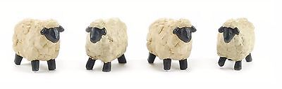 Blossom Bucket--Set of 4 Mini SHEEP Figurines~~So Cute~~