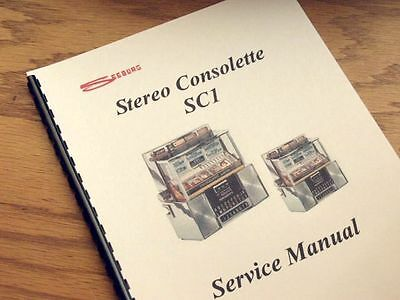 SEEBURG STEREO CONSOLETTE SC1 Jukebox Service MANUAL