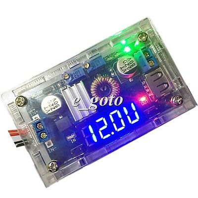 Blue LED Display Step-Down Power Supply Module CCCV 5V with crystal shell