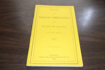 1875 State Of Maine Railroad Commissioners Report Reprint