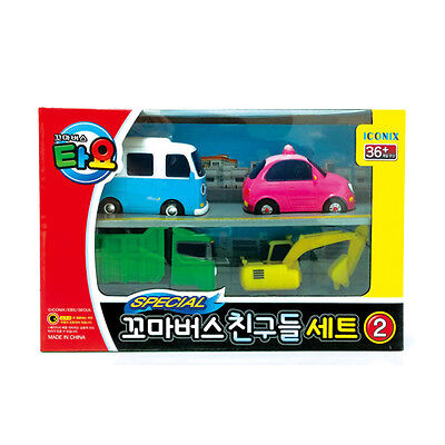 Tayo The Little Bus Friends Special Set Ⅱ (4 Cars: Bongbong, Heart, Max, Poco)