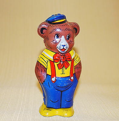 "VINTAGE Tin Litho Wind Up Toy ""Walking Bear"" 1940's J. Chein  Works"