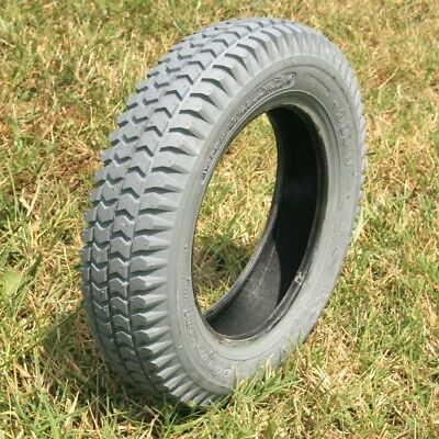 Set of (2) 9 x 3.50 - 4, (CST) 4-Ply Gray Turf Tire and Tube -