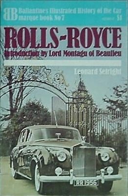 Rolls-Royce Cars, 1971 Book (Aviation & Marine Sections