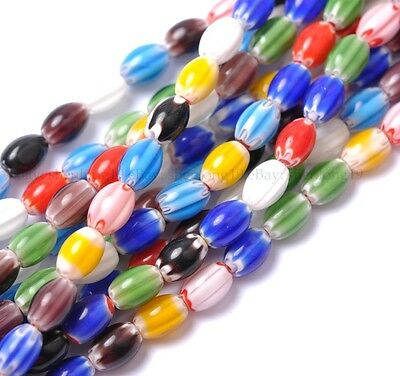 lots Quality 20pcs mix color flower Oval glass beads 9MM12MM 14MM SH187