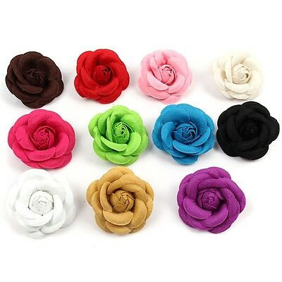 Women Retro Camellia Flower Pin Brooches Charm Craft Cloth Jewelry Accessories B