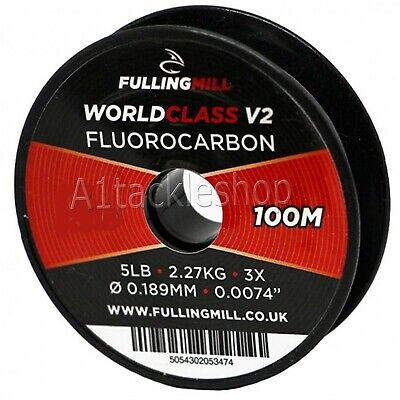 100m Fulling Mill  Fluorocarbon Fly Fishing Leader Tippet Line..Fresh 2018 Stock