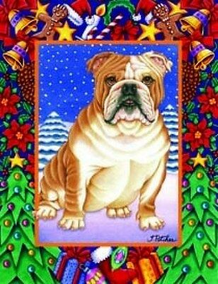 Large Indoor/Outdoor Christmas Flag - Bulldog (TP) 68025