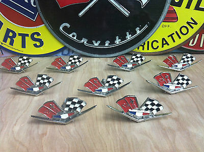 LOT OF 9 OFFICIAL CORVETTE CABINETS PULL KNOBS GREAT FOR ANY CHEVY COLLECTOR!!!!