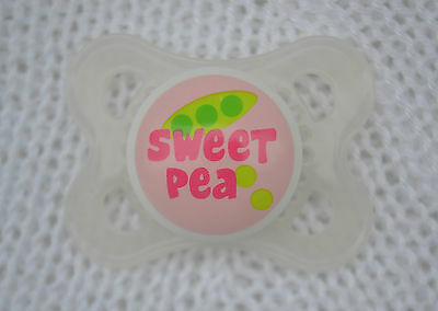PJs ♥♥ Sweet Pea ♥♥ SMALL DUMMY PACIFIER SOOTHER + MAGNET 4 REBORN DOLL
