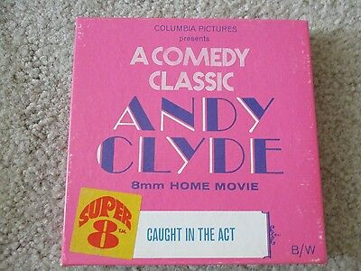 """Vintage 8mm Super 8 5"""" Reel Columbia Pictures Andy Clyde Caught In The Act"""