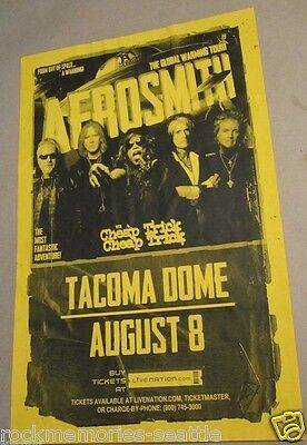 Aerosmith with Cheap Trick Global Warming Tour Concert Gig Poster