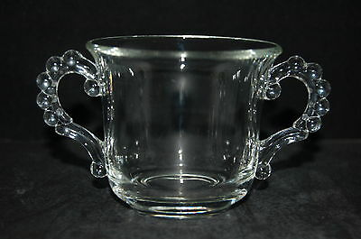 Imperial Glass Candlewick Clear Open Sugar Bowl