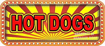 "Hot Dogs 18"" Decal Concession Lettering Food Truck Restaurant Vinyl Sticker"