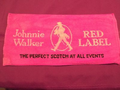 JOHNNIE WALKER RED LABEL PERFECT SCOTCH VINTAGE BEER BAR TOWEL MAT-RARE