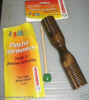 TWO TONE WOOD BLOCK AND MALLET SET DRUM HOHNER