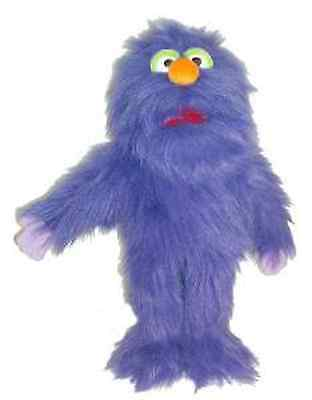 "Purple monster Puppet 15"" Ventriloquist,Educational.Moving mouth&hands"