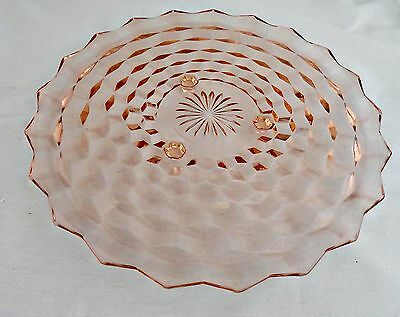Indiana Glass Pink Whitehall #521 Footed Cake Plate