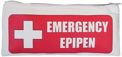Emergency Epipen  - Natural Cotton Zip Case - SUPPLIED EMPTY