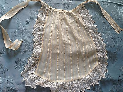 Beautiful Vintage Apron With Tulle Lace