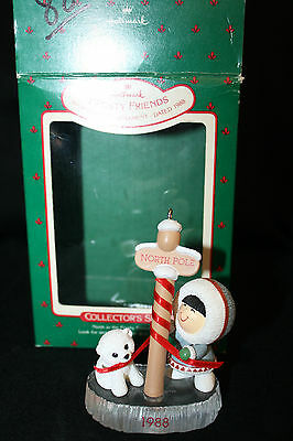 1988 Hallmark 9th Ornament Frosty Friends with box north pole EUC