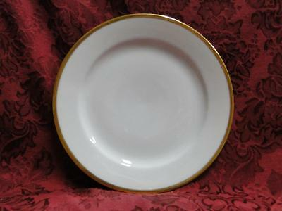 Tirschenreuth Colonial, White w/ Smooth Gold Band: Luncheon Plate (s), 7.75""