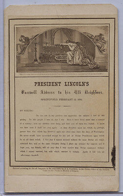 PRESIDENT LINCOLN'S FAREWELL ADDRESS cdv