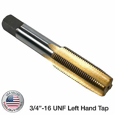 "3/4""-16 UNF Left Hand Tap TiN Titanium Nitride Coated"