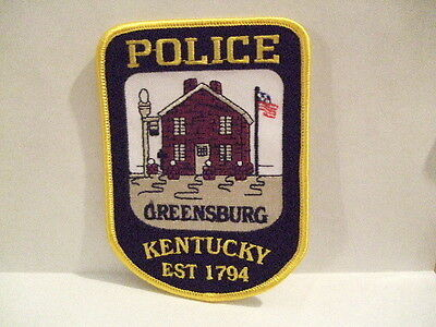 police patch  GREENSBURG POLICE KENTUCKY EST 1794