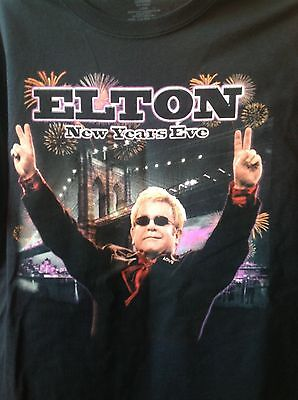 Elton John Official New Year's Eve 2014 Barclay's Center Shirt Brooklyn Ny Xl